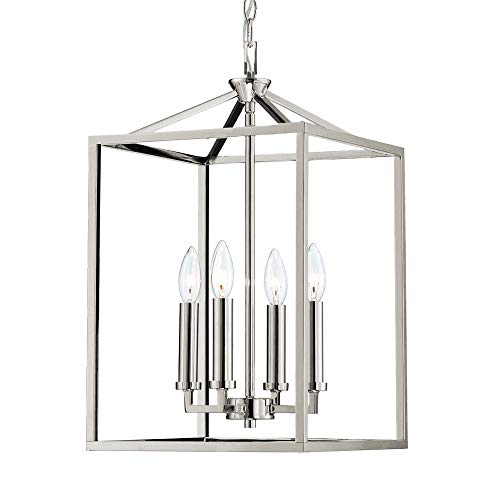 Langdon Mills 10306 Graff Foyer or Island Pendant, Polished Nickel