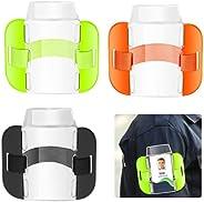 3PCS Arm Card Sleeve Arm Badge Holder Adjustable Armbands Card Holder for Emergency Workers Security Staff Doo