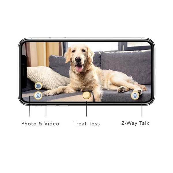 Furbo Dog Camera: Treat Tossing, Full HD Wifi Pet Camera and 2-Way Audio, Designed for Dogs, Compatible with Alexa (As… 3