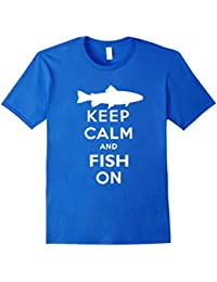 Keep Calm and Fish On T-Shirt, Fishing Shirt, Keep Calm Tee