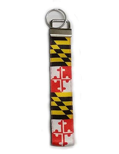 Key Chain/Mini Lanyard - Maryland Flag Pattern