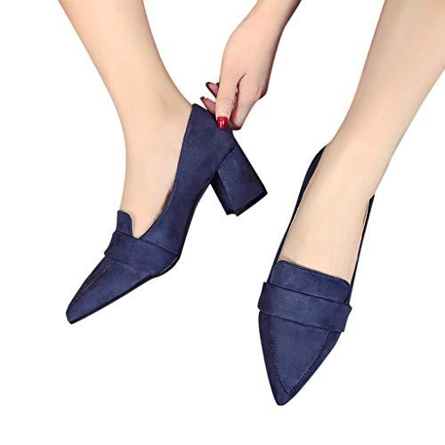 à pointu talons de dérapant les sauvage femmes femmes basses aggia bout chaussures Zyueer chaussures pour sandales la bleu anti mode 8At6x6
