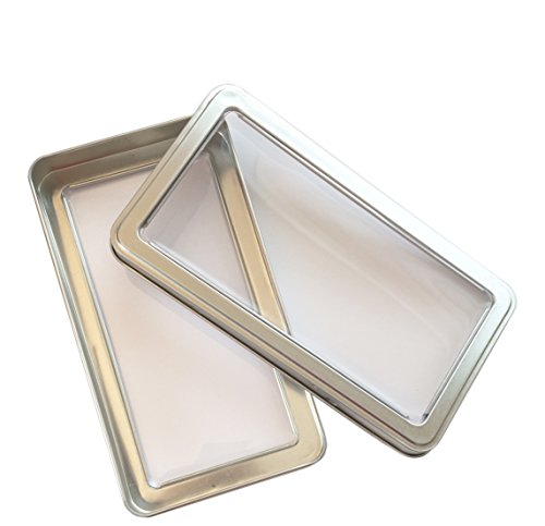 - Clear Window Steel Silver Metal Storage Organization Travel Case Gift Box Tin for Make Up Pencils Brushes Nail Manicure Kit Art First Aid Vape E-cig Medical Supplies