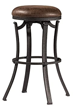 Hillsdale Furniture 4488-826 Hillsdale Kelford Backless Swivel Stool, Black, Counter