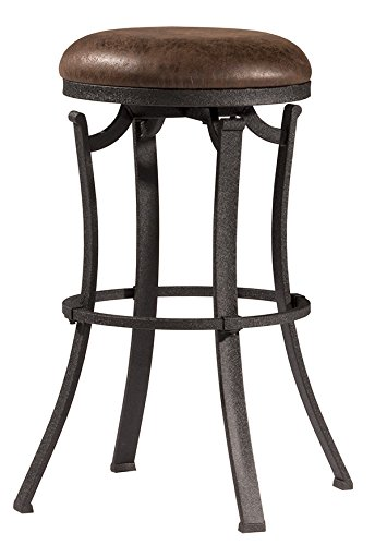 Hillsdale Furniture 4488-826 Hillsdale Kelford Backless Swivel Stool, Black, Counter (Round Hillsdale Bar Stool)