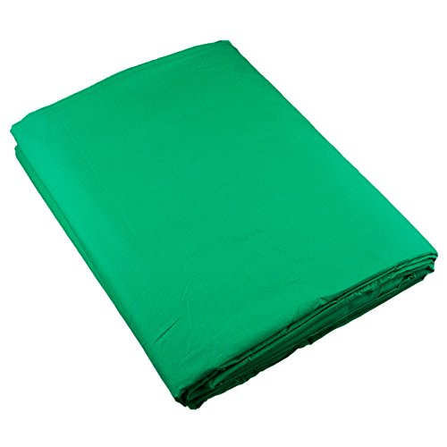 PhotoSEL Photography Backdrop, Chroma Key Green Screen, 10 x 20 ft, 100% Cotton Matte Finish Muslin Photo Background, BK13CG