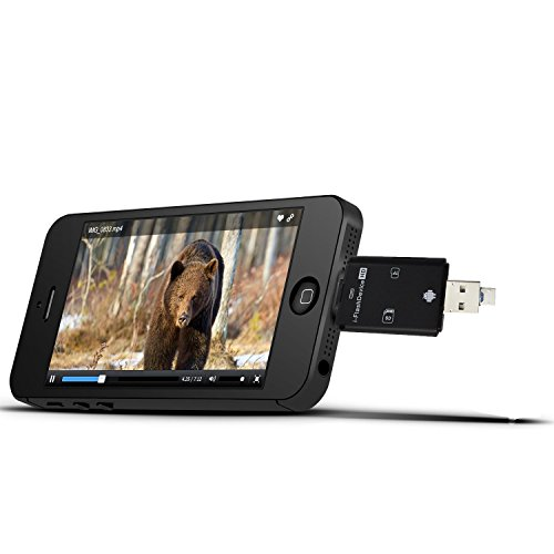 Microsd Smartphone - I-VOM Trail Camera Viewer card readers for Apple iPhone & iPad, View Photos and Videos from any Wildlife Scouting Game Cam on Smartphone, SD & Micro SD Memory Reader for Deer Hunters (Black)