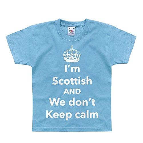 Nutees I'm Scottish and We Don't Keep Calm, Scotland Unisex Kids T Shirts - Light Blue 3/4 Years Edinburgh 3 Light