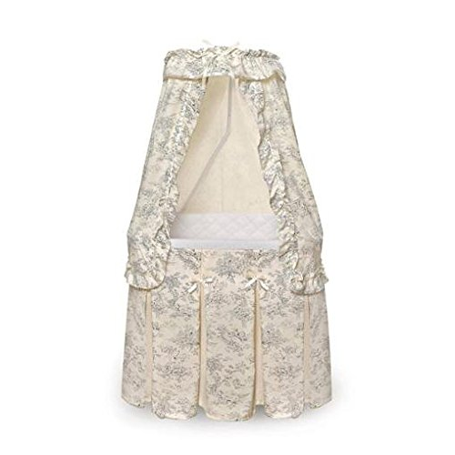 Badger Basket Majesty Baby Bassinet with Canopy, -