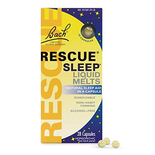 Bach Rescue Sleep Natural Sleep Remedy Liquid Melts 28 Capsules Natural Sleeping Aid