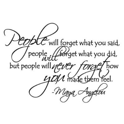 People will forget Maya Angelou quote wall saying decal vinyl [Kitchen]