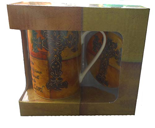 - Kent Pottery Mug and Coaster Set As For Me and My House, Gift Boxed