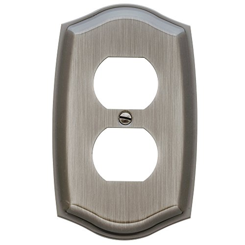 Baldwin Estate 4757.151.CD Colonial Single Duplex Wall Plate in Antique Nickel, 5.12