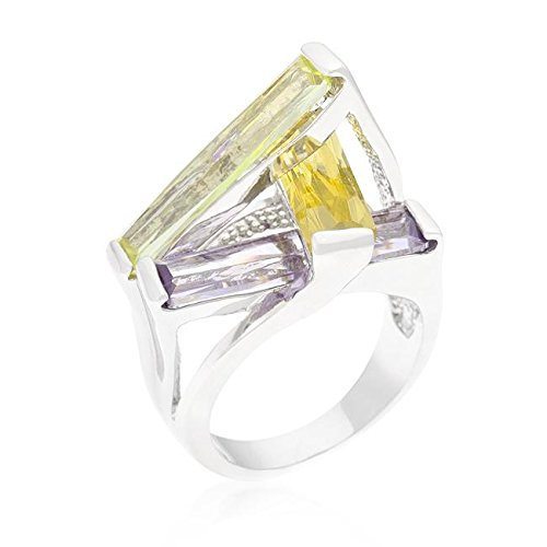 Freedom Sculpture - Freedom Fashion Crystalline Sculpture Cocktail Ring