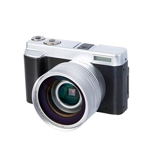 Digital Video Vlogging YouTube Camera Camcorder Recorder 3.0 Inch Flip Screen HD1080P 30FPS 24.0MP 16X Digital Zoom WiFi Camera with Wide Angle Lens and 2 Batteries(DC102) from HAOHUNT
