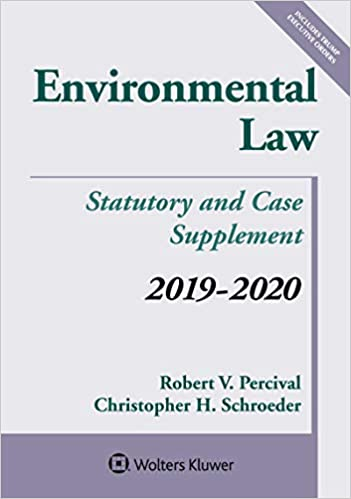 New Laws For 2020.Environmental Law 2019 2020 Statutory And Case Supplement