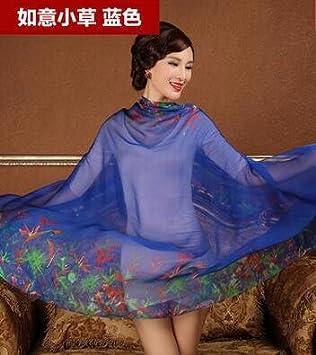 15b0f401488e Windspiele Histoire de Shanghai écharpe en Soie Femme de Soie Foulard  Mousseline au Printemps et à