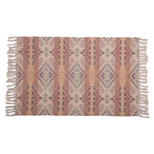 60x90/60x130cm Nordic Kilim Style Cotton Thread Floor mat Door mat Indoor Rug Carpet Living Room Porch mat