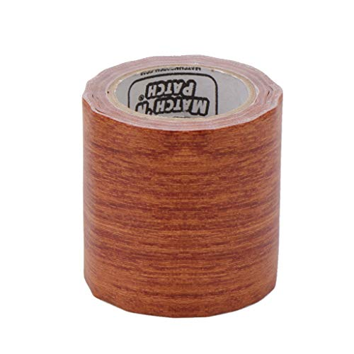 huanban072 5M/Roll 8 Colors Furniture Tape Realistic Woodgrain Repair Washi Tape Adhensive Duct Tape for Furniture (7# Red Oak) ()