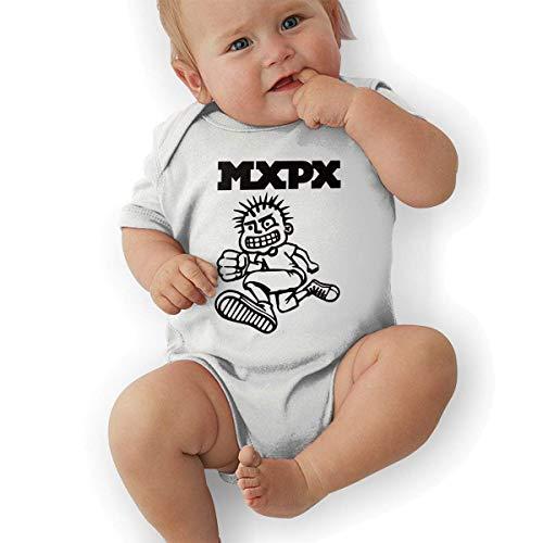 sretinez MxPx Unisex Vintage Toddler Romper Baby BoyPlay Suit White ()