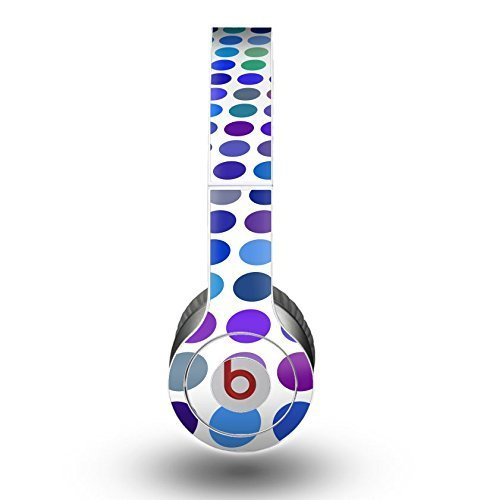 The Blue and Purple Strayed Polkadots Skin for the Beats by Dre Original Solo-Solo HD Headphones
