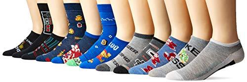 [해외]닌텐도 남성용 클래식 12일 양말 고급 박스 / Nintendo Men`s Classic 12 Days Advent Box, Assorted black, Fits Sock Size 9-11 Fits Shoe Size 4-10.5 (GirlsWomen`s) & Fits Shoe Size 4-9 (Boys)