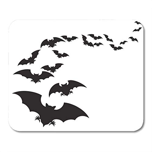 Boszina Mouse Pads Group Black Halloween Flock of Bats Swarm Fly Mouse Pad for notebooks,Desktop Computers mats 9.5
