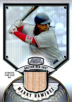 2007 Bowman Sterling Refractor #BS-MAR Manny Ramirez Game Used Bat Baseball Card - Only 199 made! by Bowman...