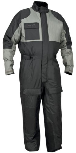 Firstgear Thermosuit Motorcycle Riding Cold Weather Suit (Black/Gunmetal, Medium)