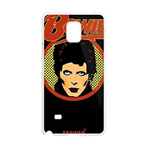 Samsung Galaxy Note 4 Cell Phone Case White David Bowie HFM Design Phone Covers