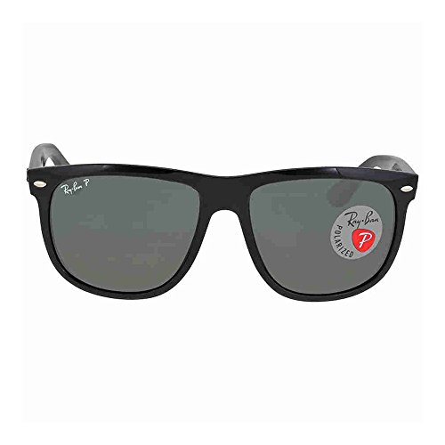 Ray-Ban Men's RB4147 Sunglasses Black / Crystal Green Polarized - Ray Boyfriend Ban