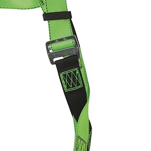 Peakworks Fall Protection V8002020 Industrial / Contractor Harness ( Class L  ), Front and Back D-Ring, Universal Fit, Hi-Vis Green by Peakworks (Image #2)