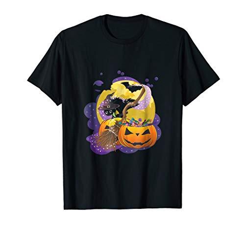 Black Cat Witch Pumpkin Trick Or Treat Boo Funny (Witch Black Cat Pumpkin)