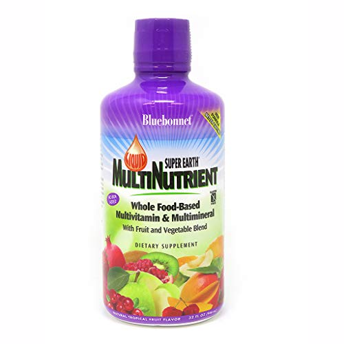 (Bluebonnet Super Earth Multi-Nutrient Formula, Tropical Fruit, 32 Fluid)