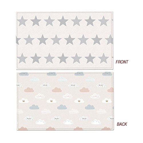Parklon Play Mat Modern Star Playmat Baby Soft Mat Living Room Mat Rug Double Sided Design (Extra Large(235x140x1.5cm)) by Parklon