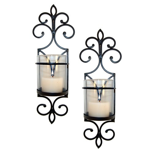 Pomeroy Pentaro Candle Holder Sconce Wall Lighting - Set of Two (Decor Set Wall Sconces)