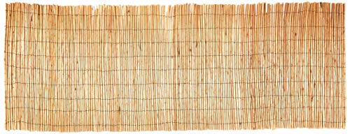Peeled Willow Fence Screen, 3'H x 8'L, Light Mahogany Color ()