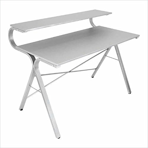 picture of Lumisource Wave Desk in Silver