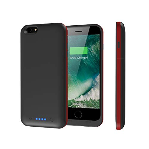 iPhone 6s/6 Plus Battery Case,Epuirie 6800mAh Portable Charger Case Rechargeable Extended Battery Pack Protective Backup Charging Case Cover for Apple iPhone 6s/ 6 Plus(5.5 Inch)