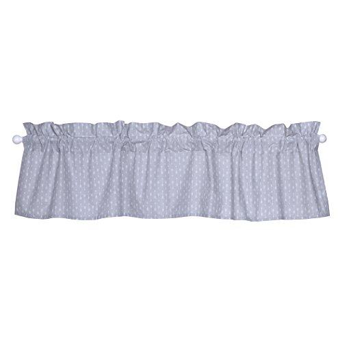 Trend Lab Moose Canoe Window Curtain Valance for Nursery, Gray/White