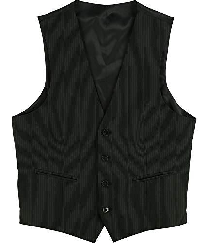 Calvin Klein Boys Pinstriped Suit Vest, Black, S/W x L