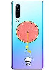 Oihxse Funda Huawei Mate 30 Pro 5G, Ultra Delgado Transparente TPU Silicona Case Suave Claro Elegante Creativa Patrón Bumper Carcasa Anti-Arañazos Anti-Choque Protección Caso Cover (A3)