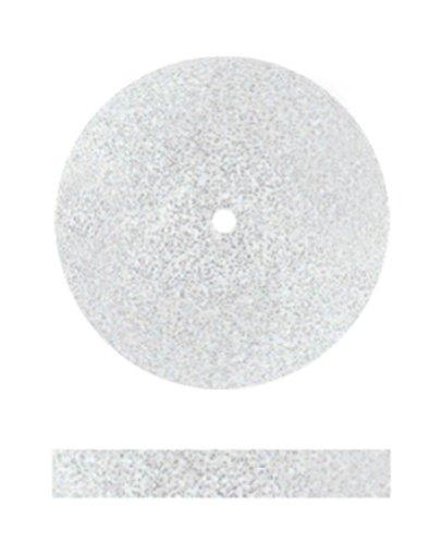 Dedeco 7504 Ceramic Wheels, Coarse, 7/8'' x 1/8'', White (Pack of 100)