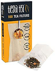 Tiesta Tea, Loose Leaf Tea Filters, 100 Count, Disposable Tea Infuser, 100% Natural Unbleached Paper, Steeps Tea and Coffee, Eco-Friendly, Single Serve Filter for a Cup of Tea