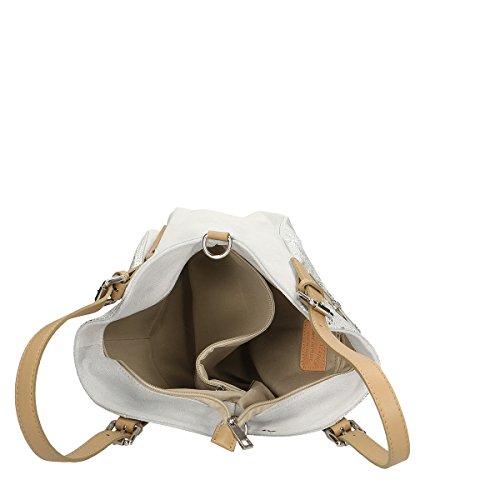 main à Sac en cuir Chicca Blanc 35x16x13 Borse authentique Cm EqCw5xt