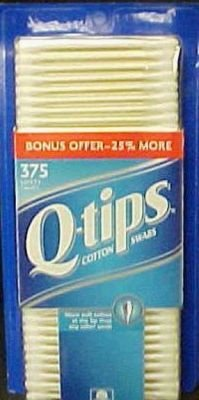 Q Tips Swabs 375 Ct 30 pcs sku# 906105MA by UNILEVER HPC-USA