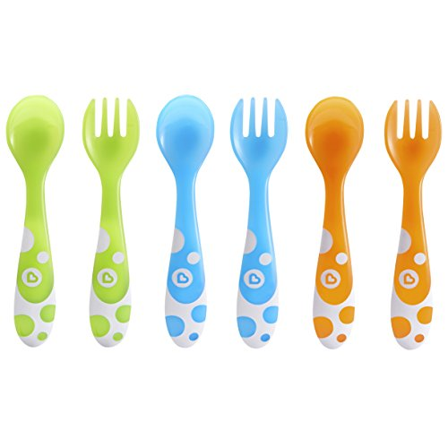 2 Piece Baby Feeding Set - Munchkin 6 Piece Fork and Spoon Set
