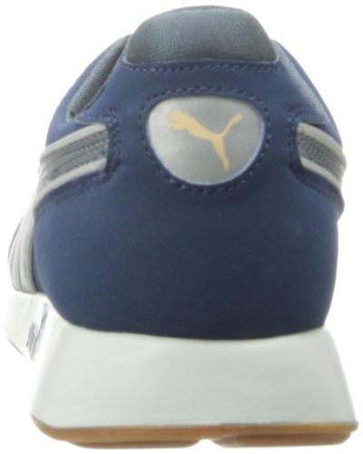 Puma Mens Rs 100 Aw Fashion Sneaker Denim Scuro / Argento Puma / Turbolenza