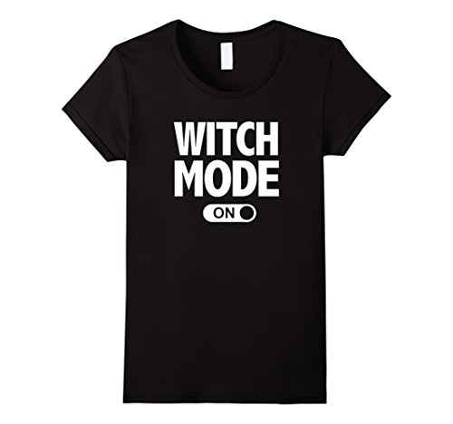 Womens Witch Mode On Spooky Halloween T-Shirt XL Black