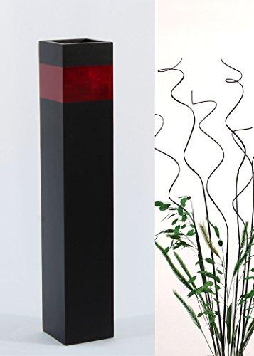 Red Rectangular Vases - Green Floral Crafts 28